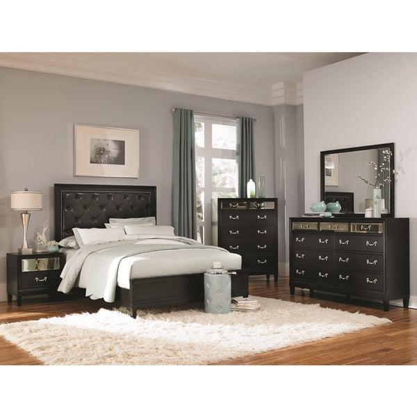 Shop Versailles Black 5-piece Bedroom Set