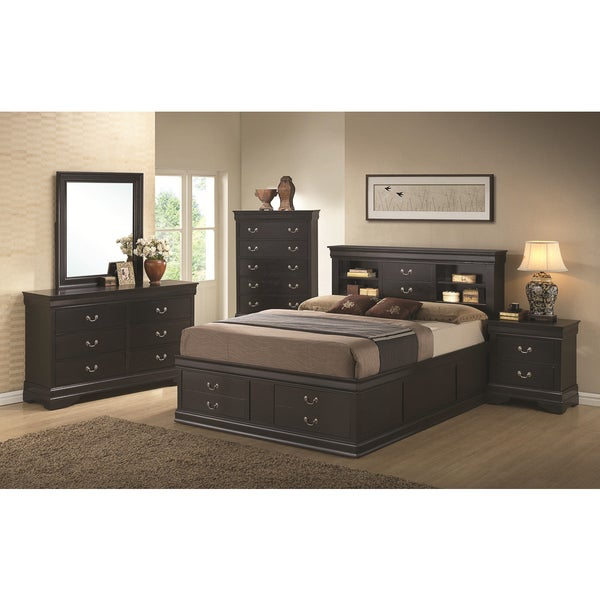 Charming Blackhawk Black 4 Piece Bedroom Set