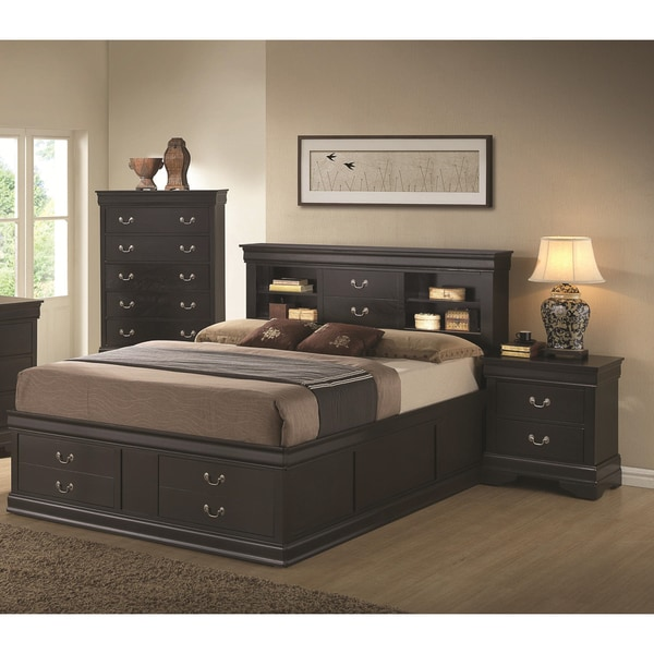 Blackhawk black 3 piece bedroom set free shipping today for 3 bedroom set