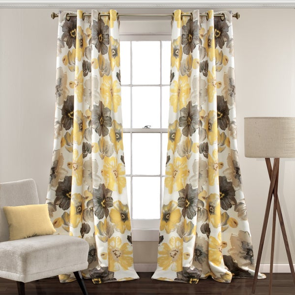 lush decor leah room darkening curtain panel pair - Room Darkening Curtains