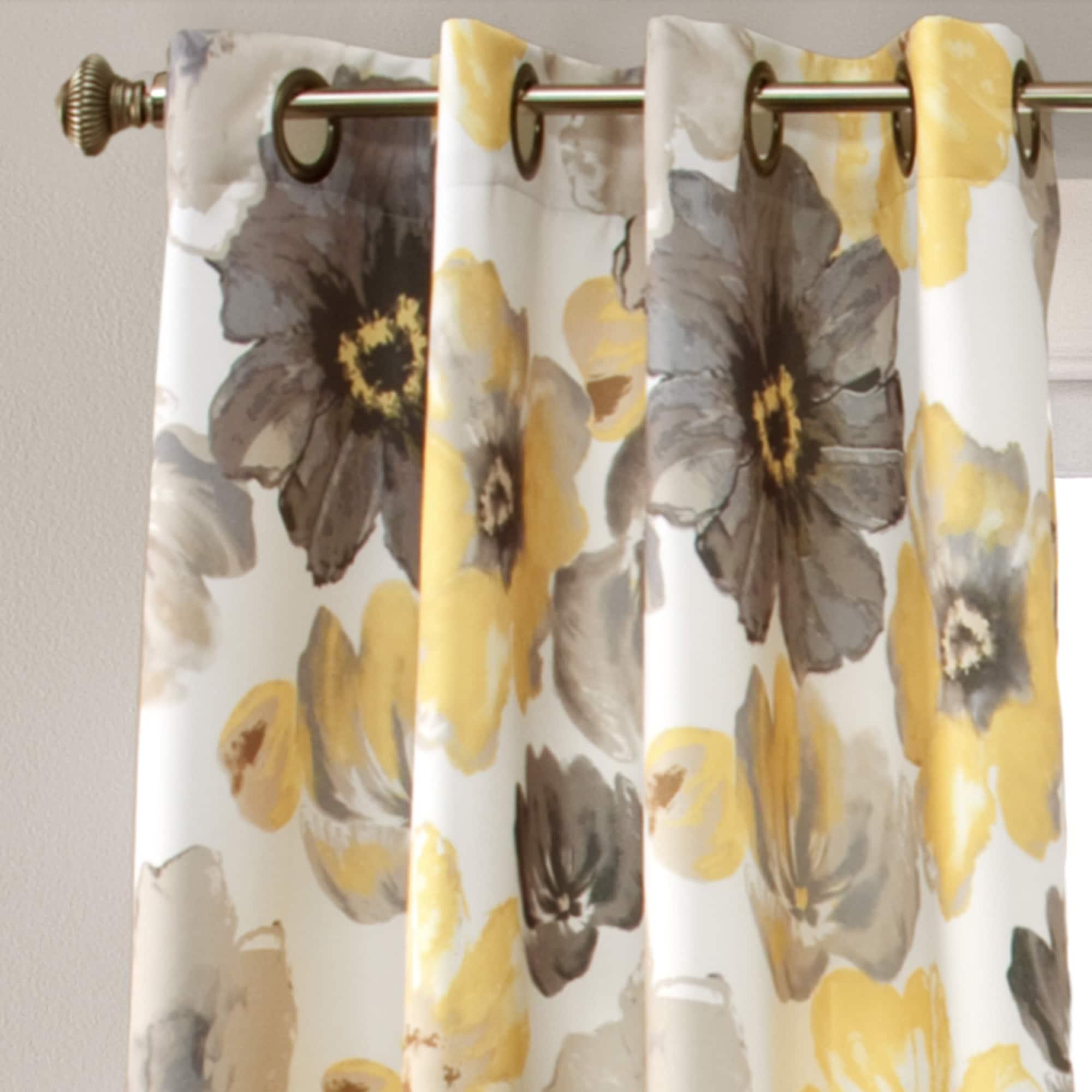 Lush Decor Leah Room Darkening Curtain Panel Pair Ebay