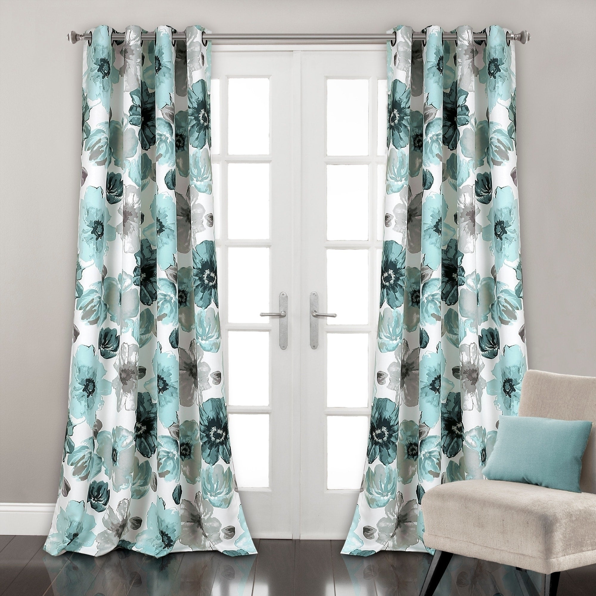 Buy Blue, 84 Inches Curtains & Drapes Online at Overstock.com | Our ...