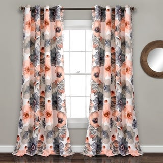 Lush Decor Leah Room Darkening Curtain Panel (Pair)
