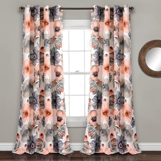 Lush Decor Leah Multicolor Room Darkening Curtain Panel Pair (More Options  Available)