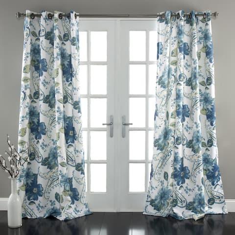 Lush Decor Floral Paisley Room Darkening Curtain Panel Pair