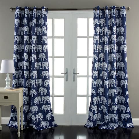 Taylor & Olive Koutny Elephant Parade Room Darkening 84-inch Panel Pair - 52x84