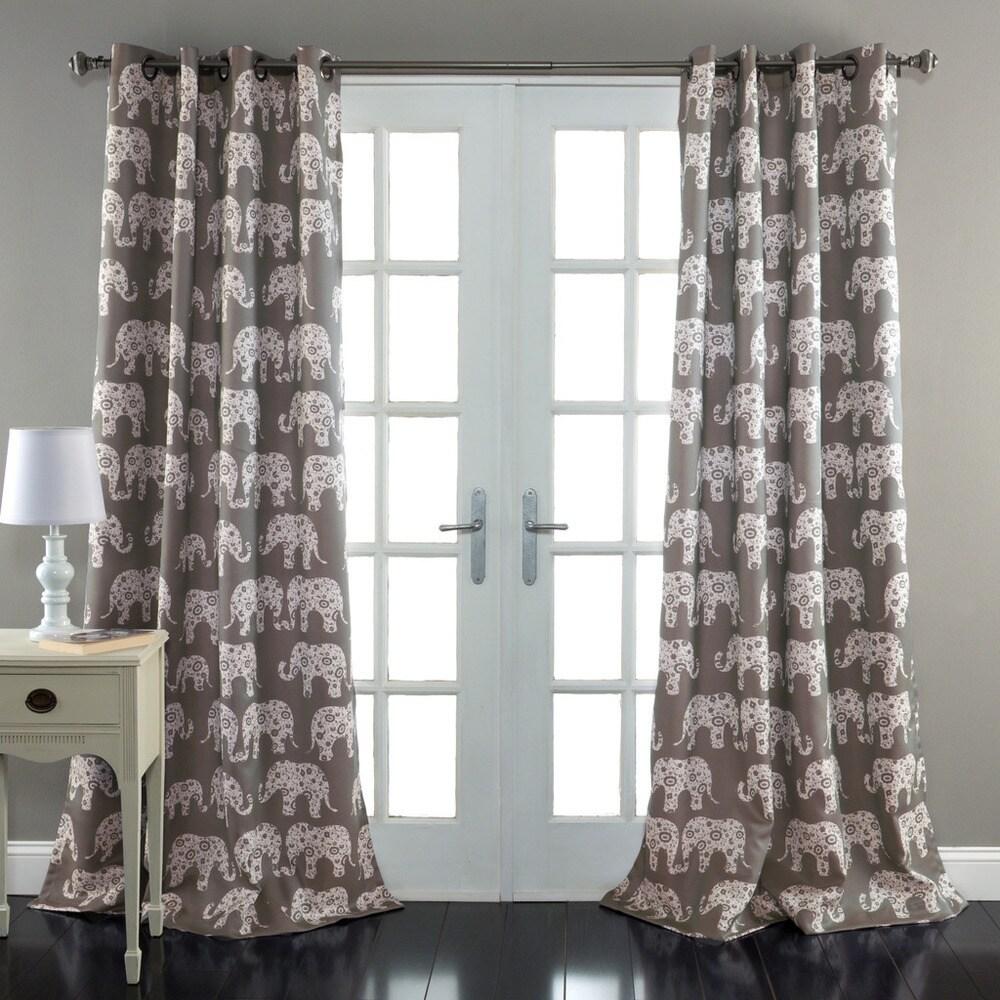 Shop Taylor & Olive Koutny Elephant Parade Room Darkening 84-inch Panel Pair - 52x84 - 20881780