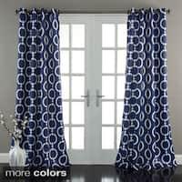 Lush Decor Chainlink 84-Inch Room Darkening Curtain Panel Pair - 52x84