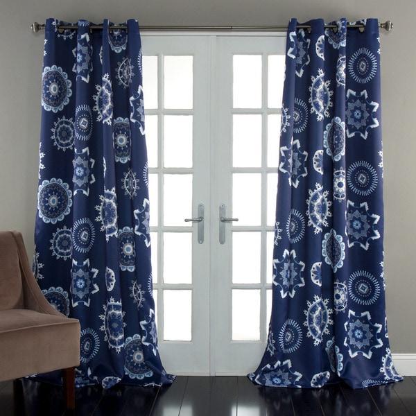 Lush Decor Adrianne Room Darkening 84 Inch Curtain Panel