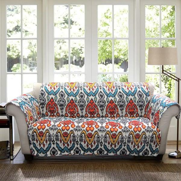 Lush decor jaipur ikat sofa furniture protector slipcover for Home decor jaipur