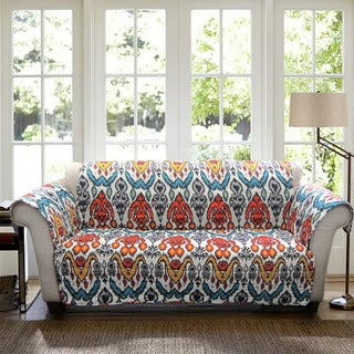 Lush Decor Jaipur Ikat Sofa Furniture Protector Slipcover