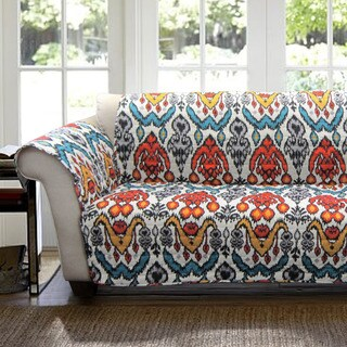 Lush Decor Jaipur Ikat Loveseat Furniture Protector Slipcover
