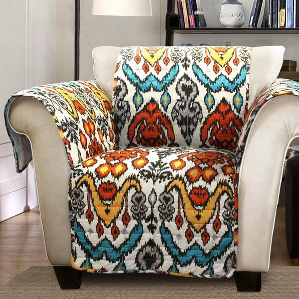 Shop Lush Decor Jaipur Ikat Armchair Furniture Protector Slipcover Free Shipping On