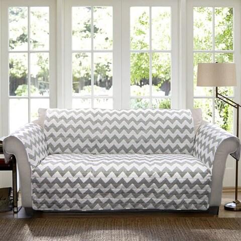 Lush Decor Chevron Sofa Furniture Protector Slipcover