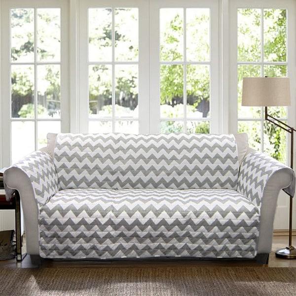 Lush Decor Chevron Sofa Furniture Protector Slipcover Free Shipping Today