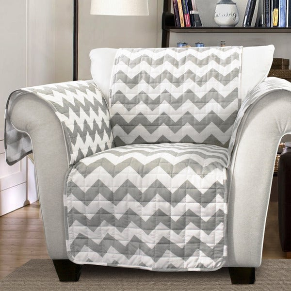 Lush Decor Chevron Armchair Furniture Protector Slipcover Free Shipping Today