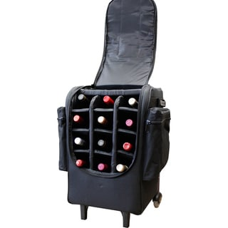 Amerileather Rolling 12-Bottle Wine Bag