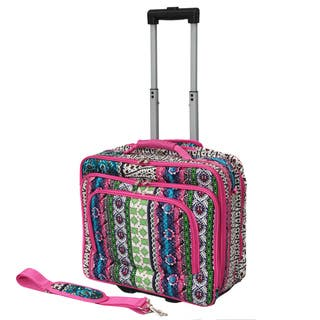 World Traveler Artisan Collection Rolling 17-inch Laptop Business Case (Option: Artisan)|https://ak1.ostkcdn.com/images/products/10013962/World-Traveler-Artisan-Collection-Rolling-17-inch-Laptop-Business-Case-P17161393.jpg?impolicy=medium