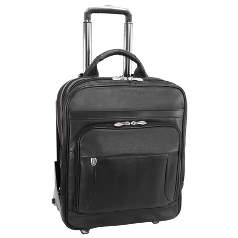 McKleinUSA Wicker Park Leather Detachable-Wheeled Three-Way 15.6-inch Laptop Backpack