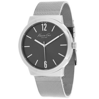Kenneth Cole Men's 10021979 Classic Round Silvertone Mesh Bracelet Watch