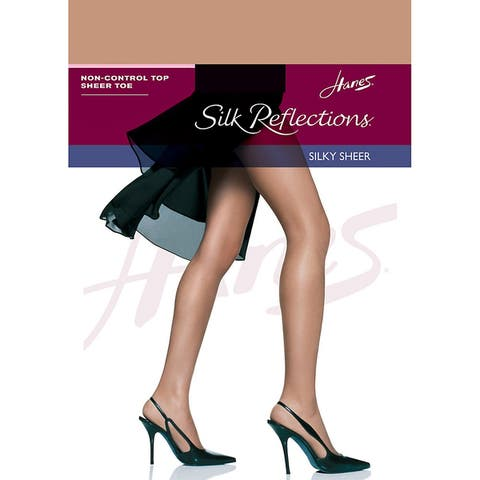 Hanes Silk Reflections Non-Control Top Sheer Toe Pantyhose