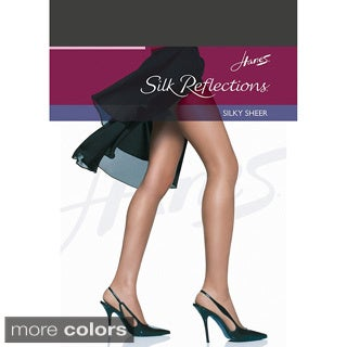 Hanes Silk Reflections Non-Control Top Reinforced Toe Pantyhose (More options available)
