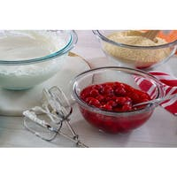 Pyrex Prepware 3-Piece Mixing Bowl Set in Clear