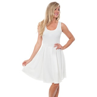 White Mark Women's 'Crystal' Fit and Flare Dress