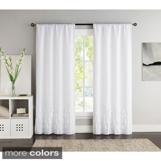 VCNY Amber 84-inch Black Out Curtain Panel Pair