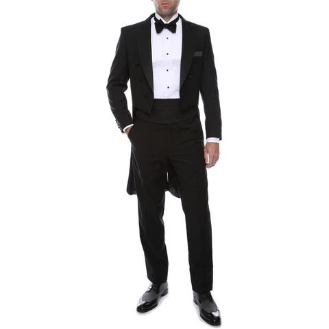 Ferrecci Men's Italian Designed Regular Fit Tail Tuxedo