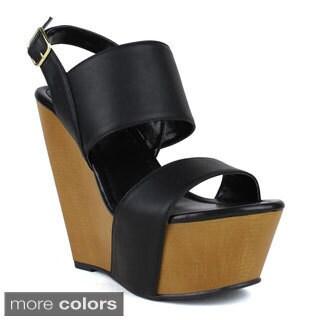 Fahrenheit Women's Ellen-06 Wedge Sandal