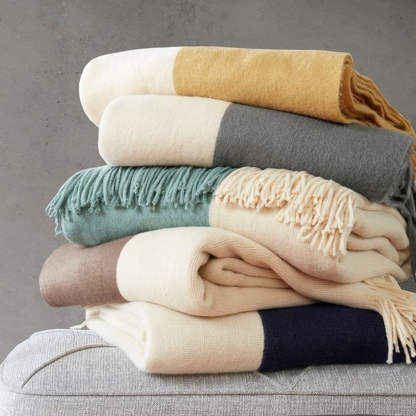 """Ink+Ivy Halmstad Color Block Faux Cashmere Throw - 50x60"""""""