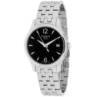 Tissot Women's T0632101105700 Tradition Round Silvertone Bracelet Watch|https://ak1.ostkcdn.com/images/products/10014223/P17161645.jpg?impolicy=medium