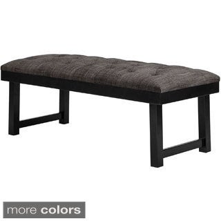 Madison Park Jacob Button Tufted Wood Bench