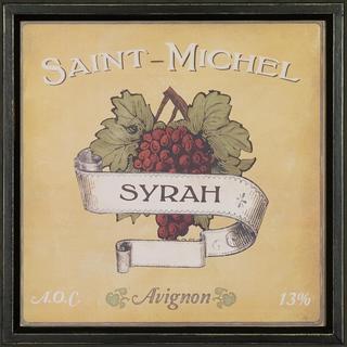 Vintage Wine Label Framed Art Print VI