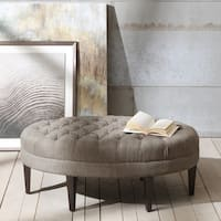 Madison Park Chase Surfboard Tufted Ottoman 3-color Option