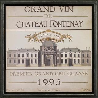Vintage Wine Label Framed Art Print IX
