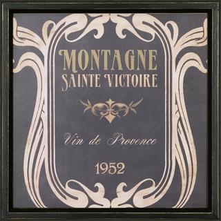 Vintage Wine Label Framed Art Print V