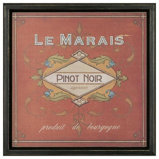 Vintage Wine Label Framed Art Print II