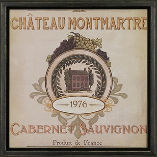 Vintage Wine Label Framed Art Print III