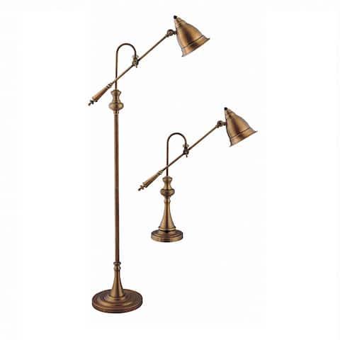 Watson Pharmacy Table and Floor Lamp Set
