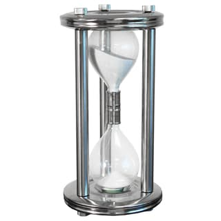 Large Nickel Finish Sand Timer Hourglass