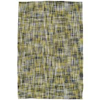 Marvel Yellow Polyester Rug