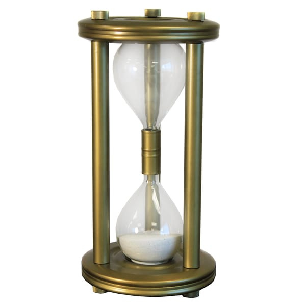 Shop Large Sand Timer Brass Frame Hourglass - Free Shipping Today ...