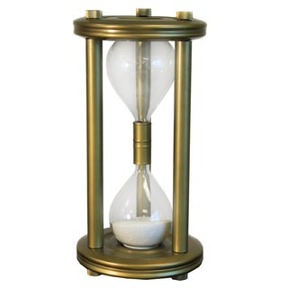Large Sand Timer Brass Frame Hourglass