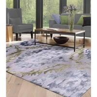 Sullivan Purple Wool Rug  (5' x 8')