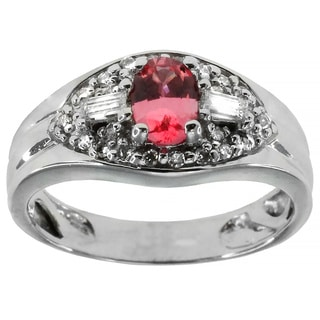 Michael Valitutti 18 White gold with Pink Spinel Ring