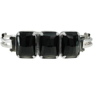 Michael Valitutti Palladium Silver Black Agate Men's Bracelet (3 options available)