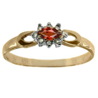 Michael Valitutti 10K Yellow Gold Diamond and Gemstone Ring with Choice of Centre Stone (More options available)