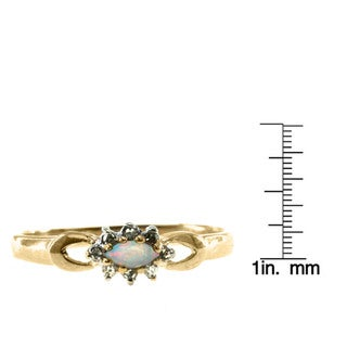 Michael Valitutti 10K Yellow Gold Diamond and Gemstone Ring with Choice of Centre Stone